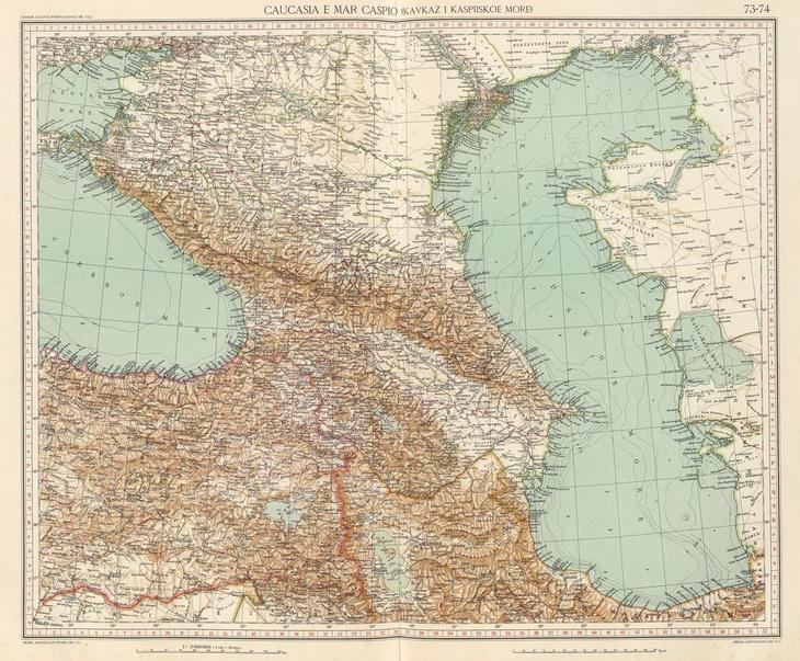 Каспийское море на древних картах и гравюрах (25 фото)