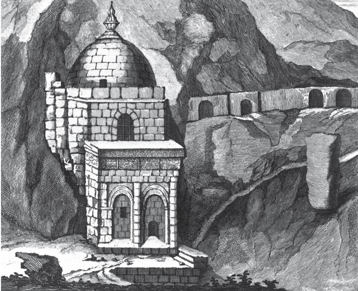 1703. Корнелиус де Бруин. Мавзолей Дири-Баба в Маразе