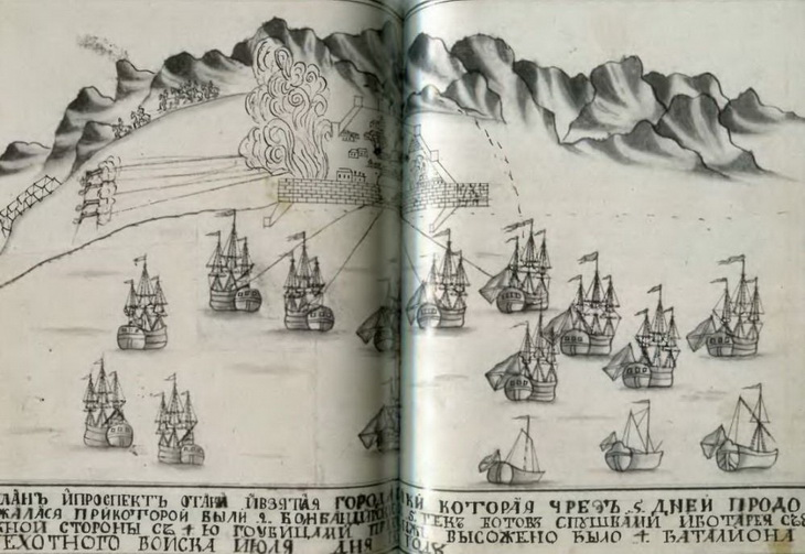 Взятие Баку Петром I в 1723 году (ФОТО)