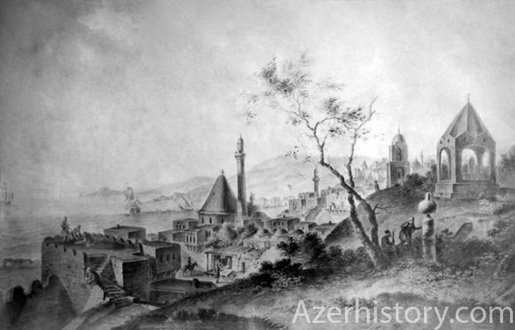 Баку в 1796 г. в изображениях художника-топографа Г.С.Сергеева (ФОТО)