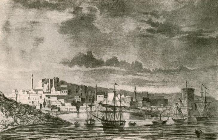 Баку на старинных гравюрах и рисунках неизвестных художников (ФОТО)