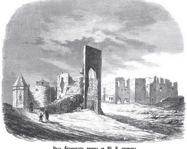 Ичери Шехер и Бешбармаг на гравюрах Г.Гогенфельдена 1850-х гг. (ФОТО)