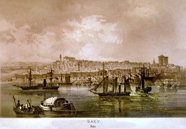 Баку и Сумгаит (1861-1865). По рисункам Карла Гиппиуса (ФОТО)