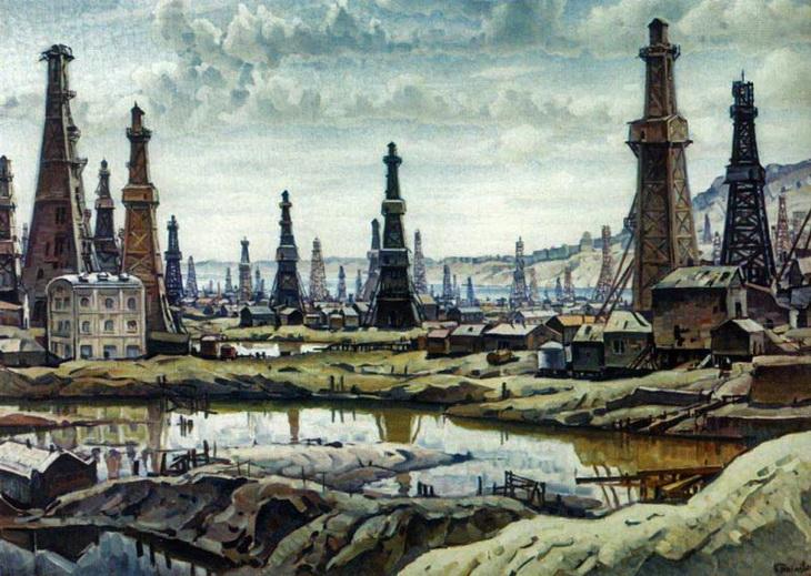 1930-е годы: Нефтяной Баку в работах Константина Богаевского (ФОТО)