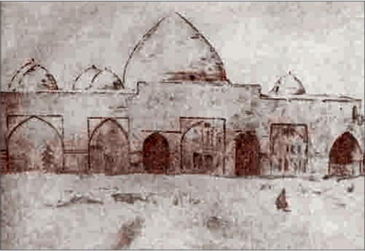 1848. Джума мечеть. Рисунок князя Г.Г. Гагарина