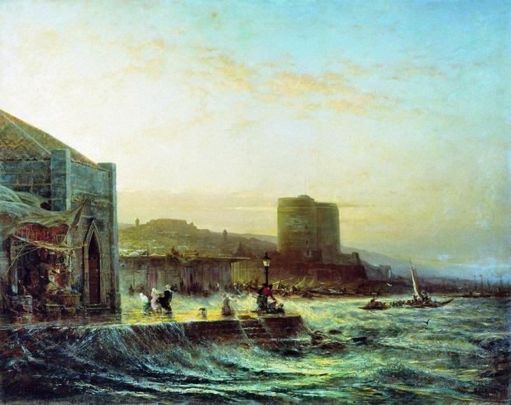 Баку 1861 года в картинах А.П. Боголюбова (10 ФОТО)