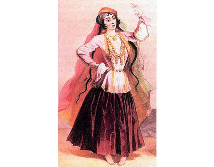 1840-1853. Танцовщица из Шемахи.