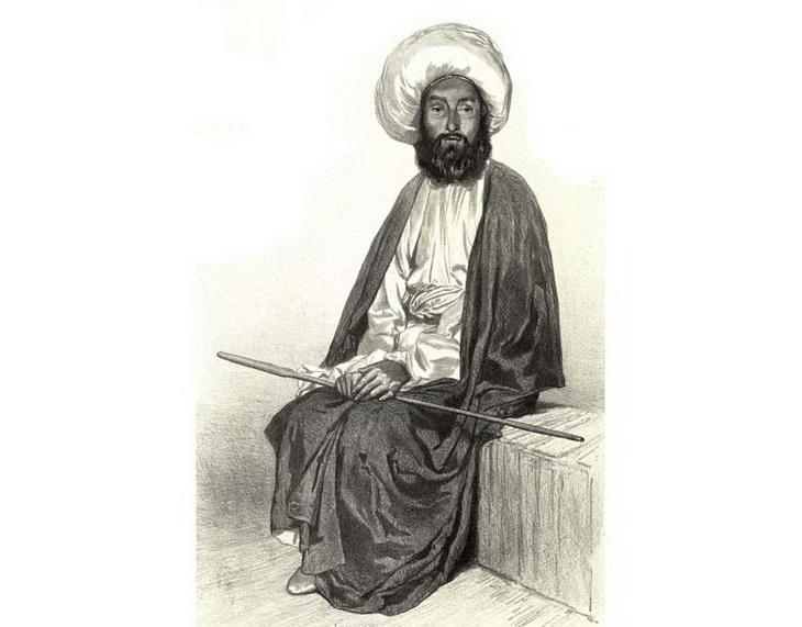 1842-1853. Бакинец в национальной одежде