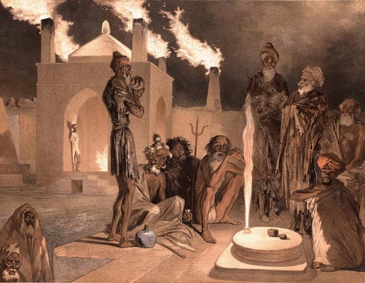 1842-1853. Огнепоклонники в Атешгяхе