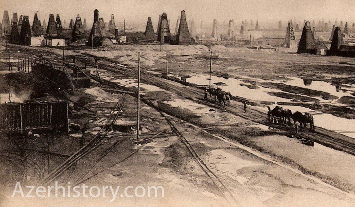 Строительство дорог к нефтепромыслам Баку и их освещение (конец XIX в.)