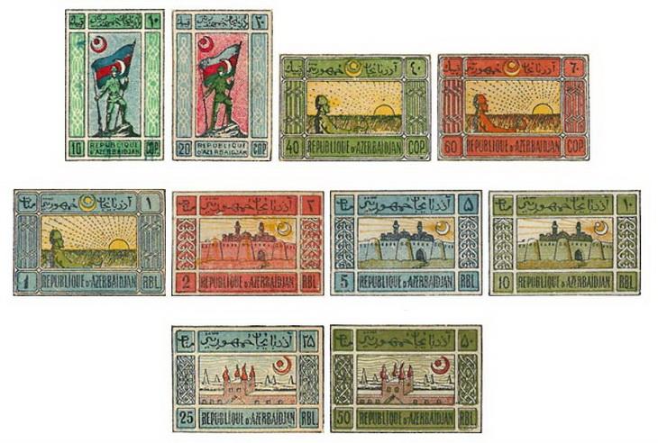 История появления первых азербайджанских почтовых марок