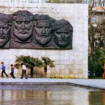 Фрагмент Мемориального ансамбля 26 бакинских комиссаров.