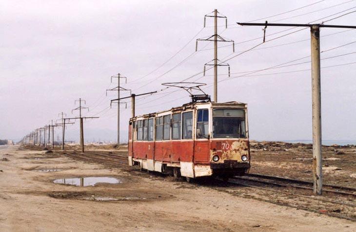 2003. Трамвай на трассе Баку-Сумгаит