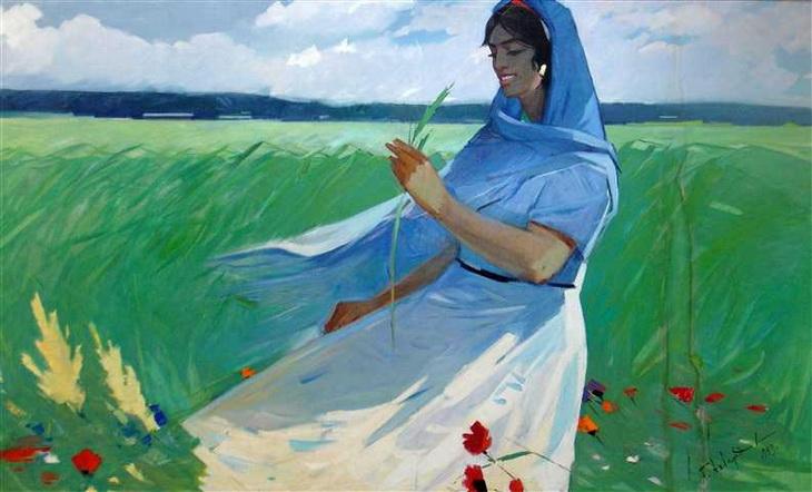 Гасан Ахвердиев. Женский портрет