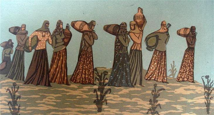 Марал Рахманзаде. «Девушки с кувшинами»