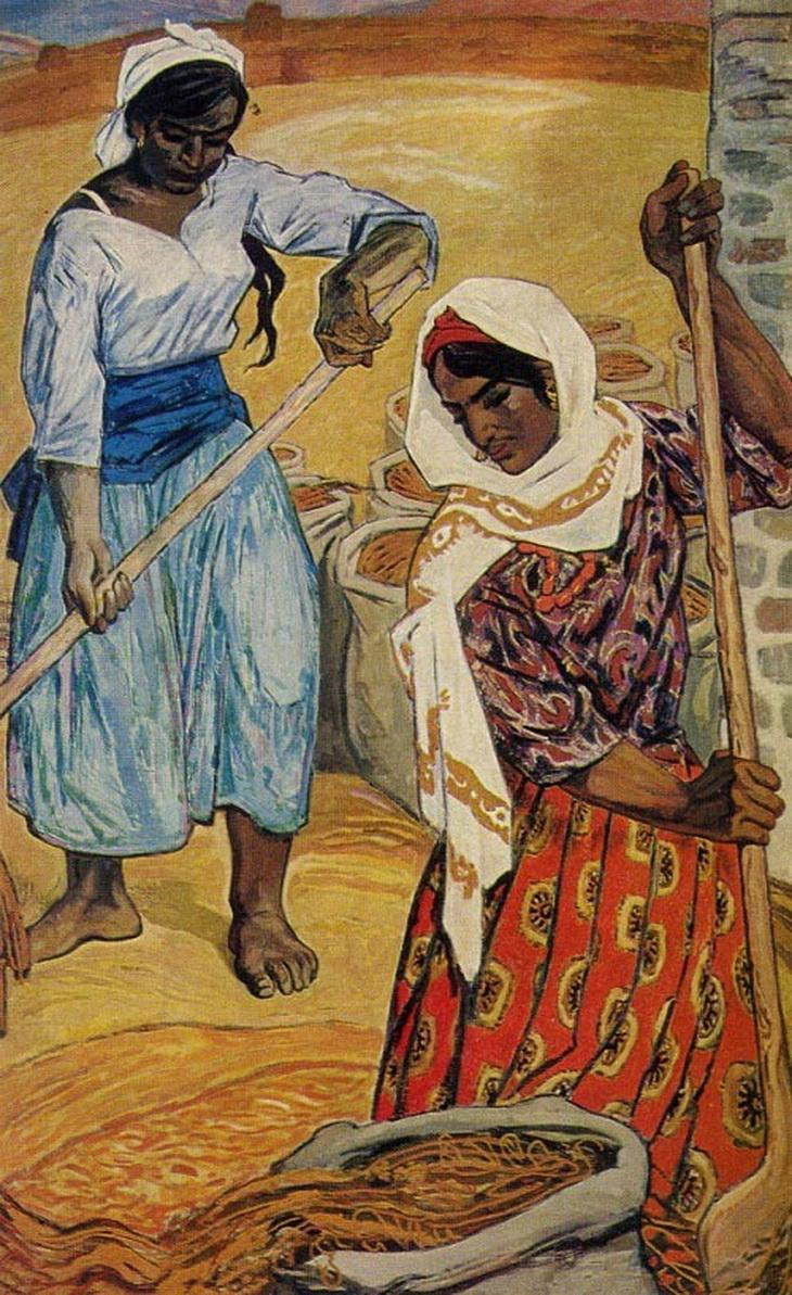 Микаил Абдуллаев. «Девушки-рисоводы» (1950-е)