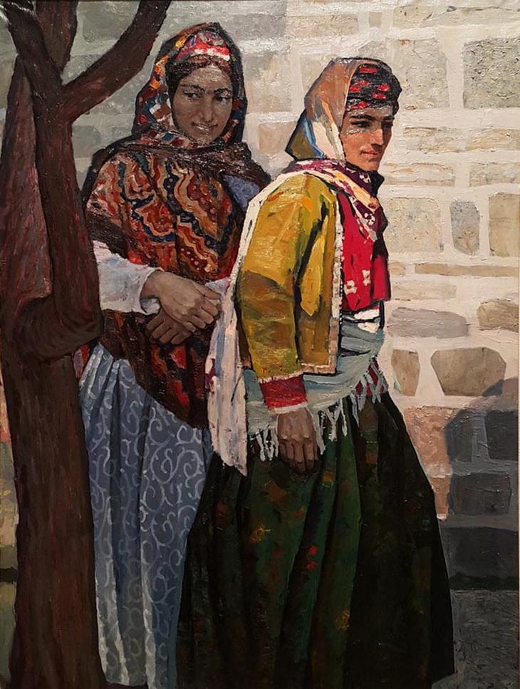 Октай Садыхзаде. «Портрет колхозников» (1972)