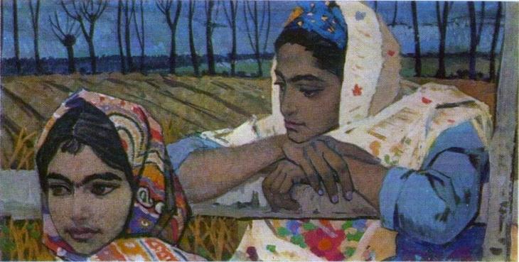 Азербайджанские келагаи в картинах художников (ФОТО)