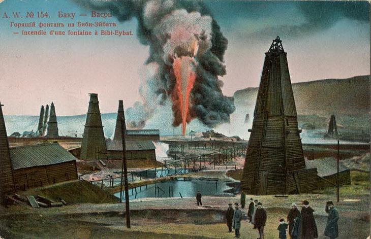 Бакинские нефтепромыслы и Черный город на открытках 19-начала 20 вв. (ФОТО) - часть 2