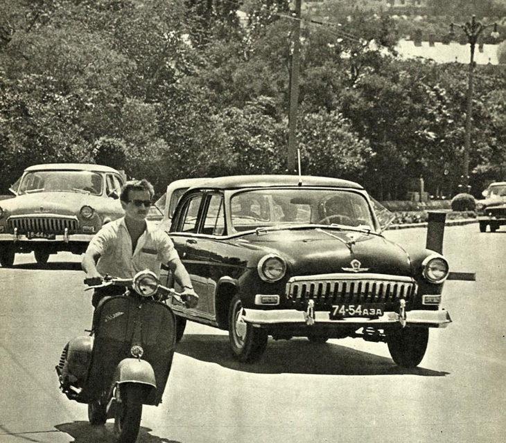 Транспорт на улицах Баку начала 1960-х годов (ФОТО)