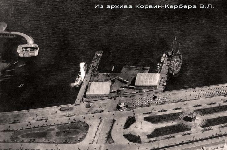 Ангары БОШМА и часть бульвара. 1916-1918