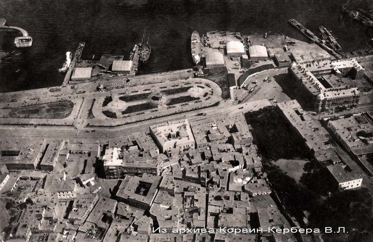Площадь Азнефти, БОШМА и часть бульвара. 1916-1918