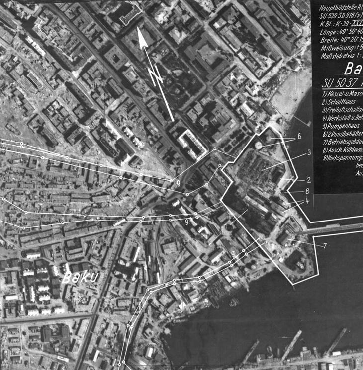 Район вокзала, 4 мая 1942 года. Интересная маркировка снимка