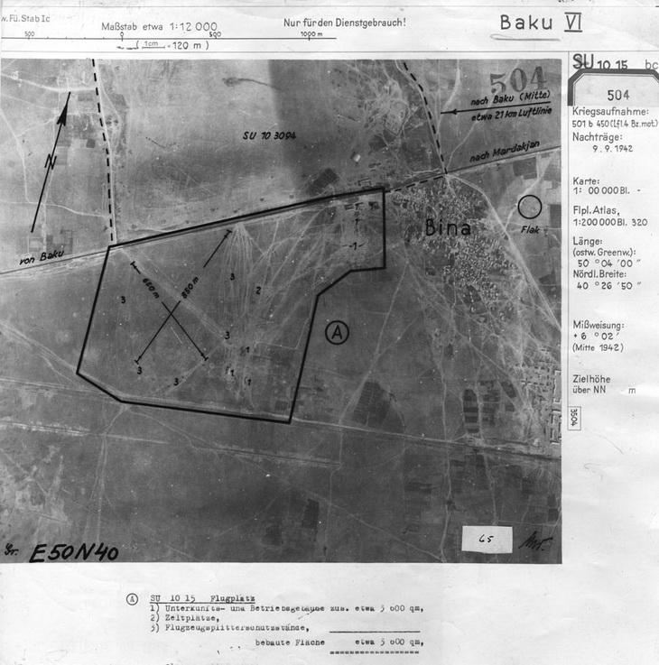 Поселок Бина и окрестности, 9 сентября 1942 года