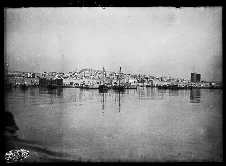 Вид города Баку с кормы парохода «Занг»