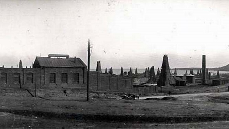 Баку, промыслы на Биби-Эйбате, фрагмент