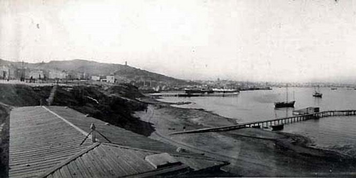 Баку. Вид на Баку с Баилова, фрагмент