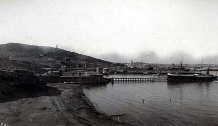 Баку. Вид с Баилова на Баку, фрагмент