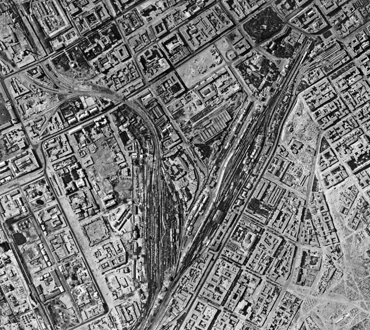 Вокзал и окрестности, 18 августа 1942 года