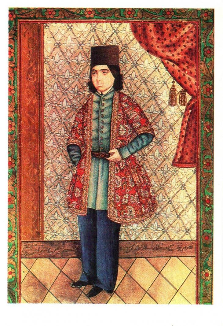 Мирза Кады Эривани. Портрет молодого человека