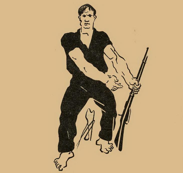 1920-е. С.Телингатер. Бакинский комсомолец с винтовкой