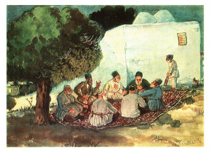 Азим Азимзаде. На бакинских дачах