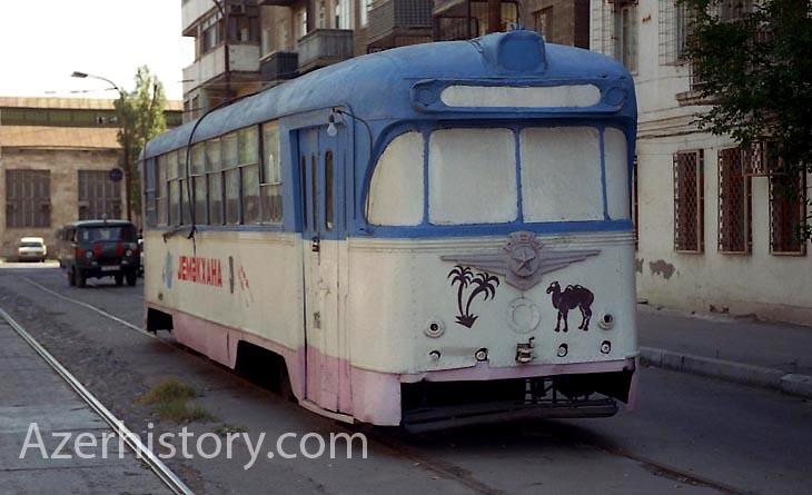 Трамвай-столовая в Баку 1999-2003 гг. (ФОТО)