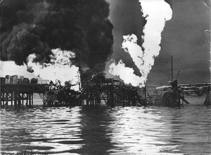 Нефтяные пожары в Азербайджане от советского фотографа «Азнефти» (ФОТО)