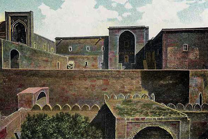 Дворец Ширваншахов и Джума мечеть в 1888-1893 годах