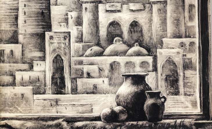 Старый Баку в завораживающих картинах Эльчина Джаббарова (ФОТО)