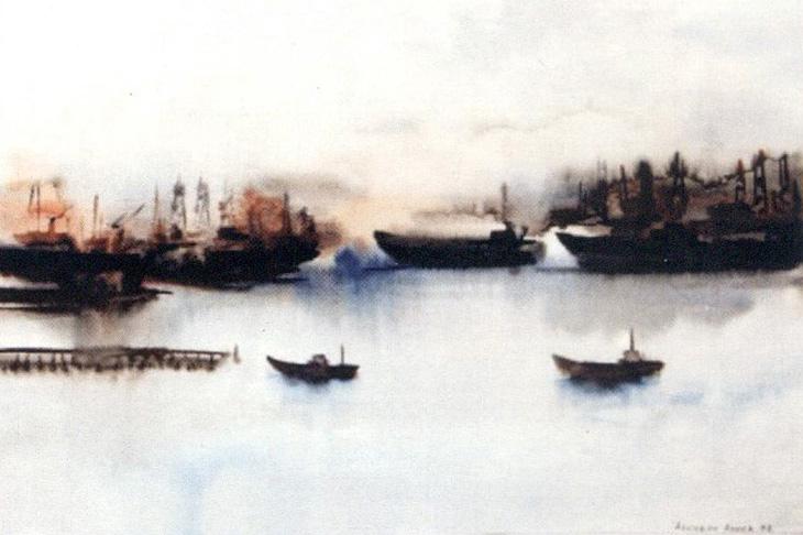 Каспий, нефть, Гобустан и различные натюрморты в работах А.Аскерова (ФОТО)