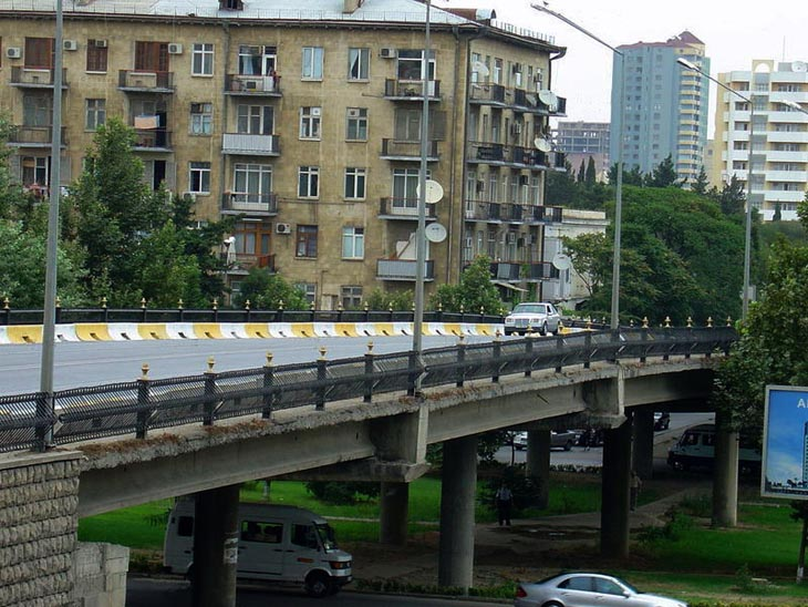 История Бакихановского моста-путепровода в Баку (ФОТО)