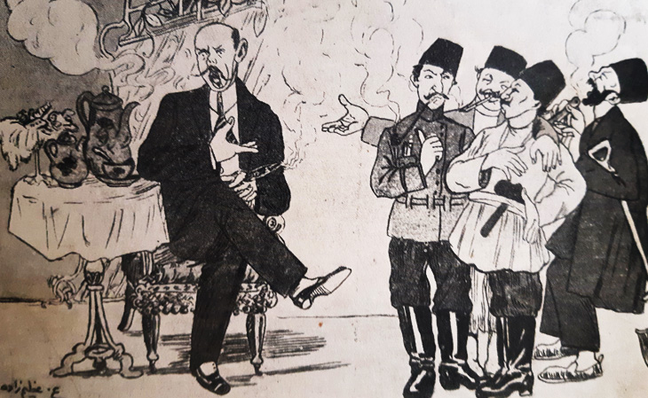 Работы великого азербайджанского карикатуриста А.Азимзаде царских времен (ФОТО)