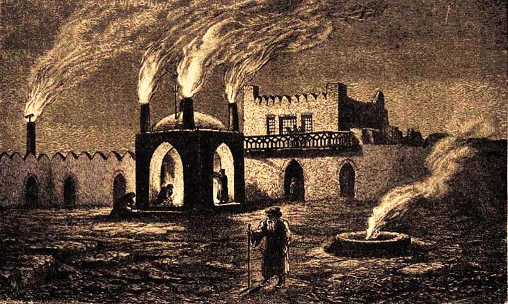 Храм огня Атешгях в записях иностранцев со Средневековья по XIX в.