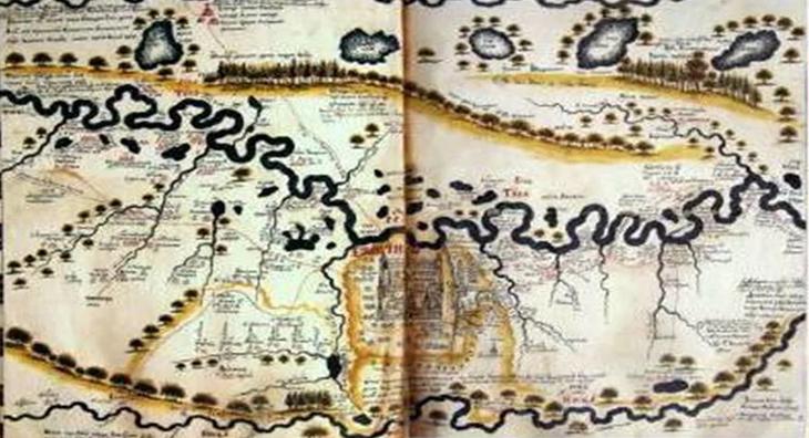 Азербайджанские территории в «Книге Большого чертежа» (1627 г.)