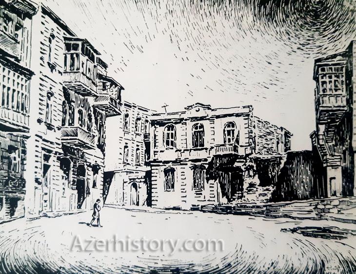 Советский Баку и литературные иллюстрации Э.Авалова (ФОТО)