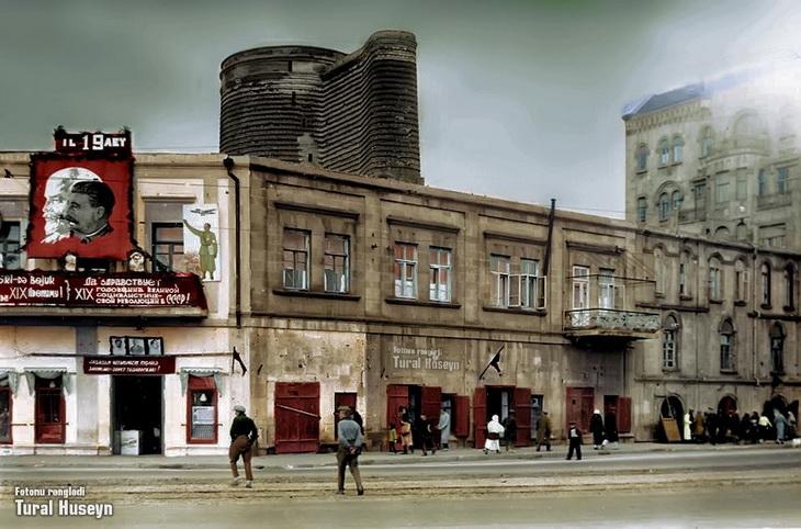 Колоризация истории: Баку дореволюционных и советских времен в цвете (ФОТО)
