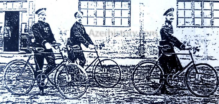 Полиция Баку нач. XX в.:  конница, велосипедисты, дворники-информаторы...