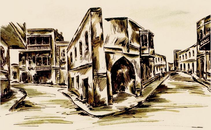 Мотивы старого Баку - авторская серия работ Х.Мамедова 1989 г. (ФОТО)
