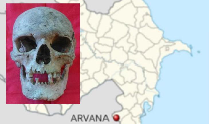 Тайна древнего черепа с клеймом, найденного на юге Азербайджана (ФОТО)